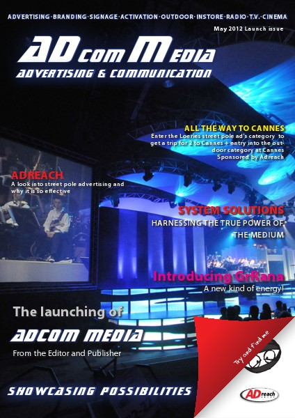 Adcomm's first two issues May 2012 Launch issue