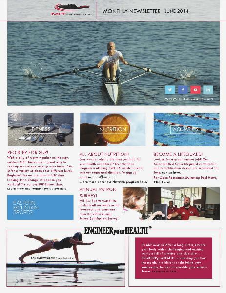 MIT Recreation Monthly Newsletter June 2014