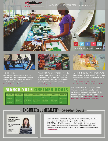 MIT Recreation Monthly Newsletter March 2015