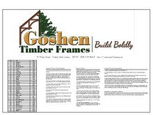 Goshen Timber Frame Home Plan Book