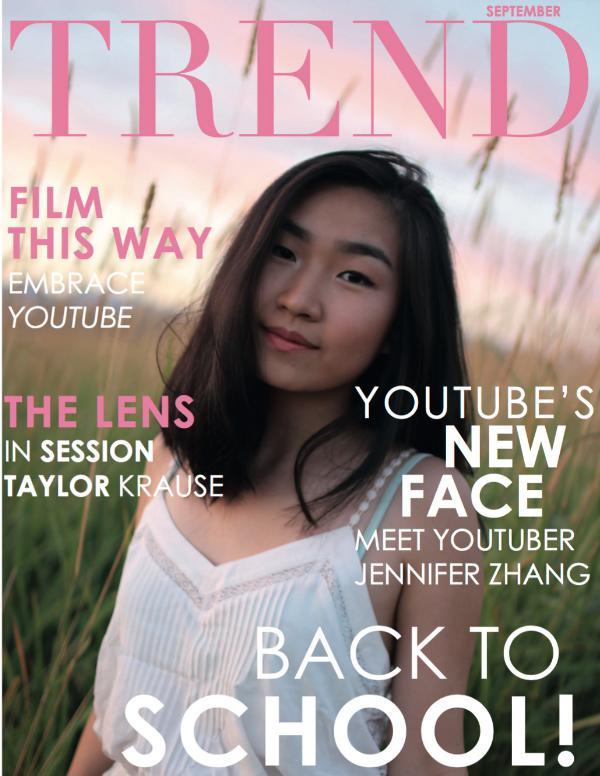 TREND MAGAZINE Jennifer Zhang
