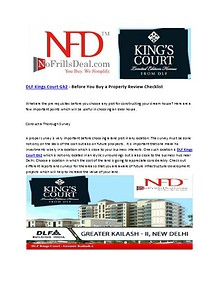 DLF Kings Court Gk2 - Before You Buy a Property Review Checklist