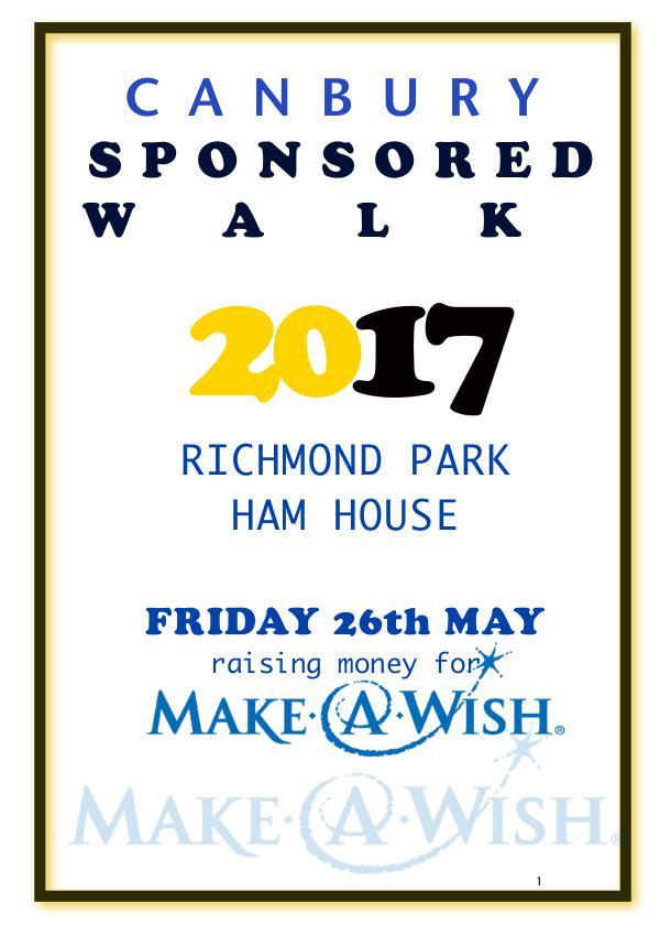 Canbury Sponsored Walk 2017 Sponsored Walk Maps 2017 (2) D Orchard