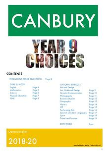 Year 9 Options Canbury 2018-2020