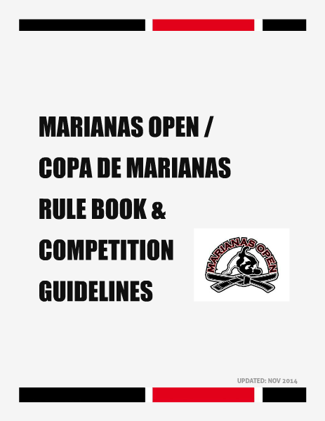 MARIANAS OPEN AND COPA DE MARIANAS RULE BOOK 2014-2015