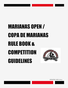 MARIANAS OPEN AND COPA DE MARIANAS RULE BOOK