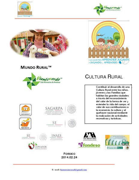 Rancho Mundo Rural Modelo del Rancho Mundo Rural
