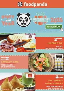 foodpanda monthly e-deal brochure -