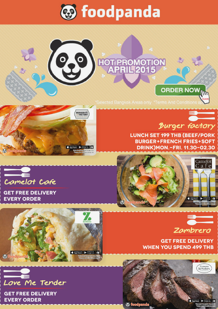 foodpanda monthly e-deal brochure -E-DEALS| APRIL-