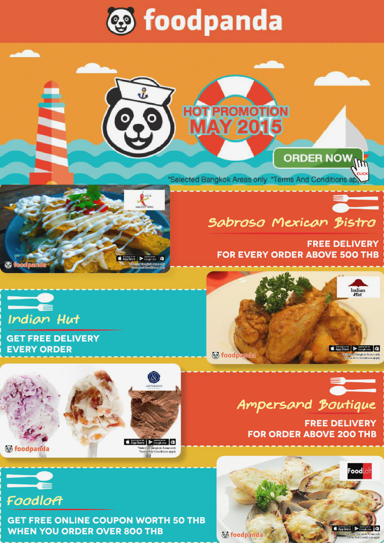 foodpanda monthly e-deal brochure E- DEALS | MAY