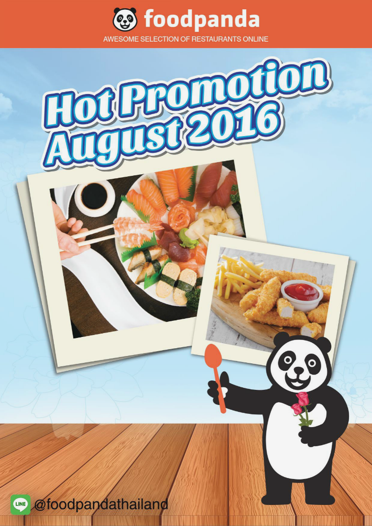 foodpanda Monthly e-deal brochure August 2016 E- DEALS | AUG 2016