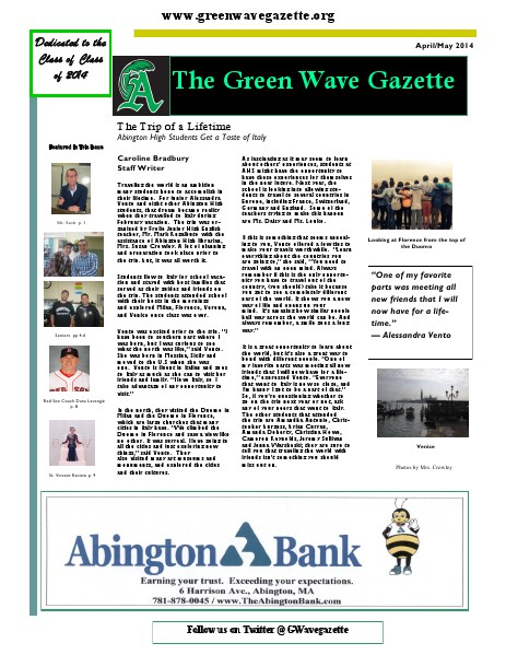 The Green Wave Gazette April/May 2014