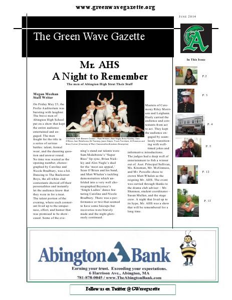 The Green Wave Gazette June 2014