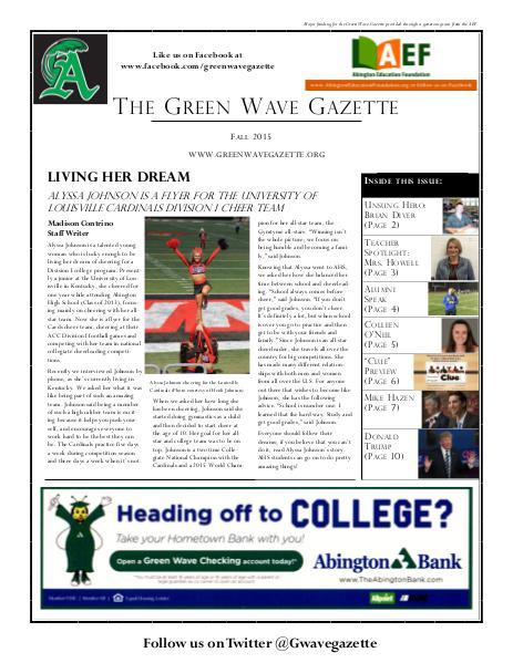 The Green Wave Gazette Fall 2015