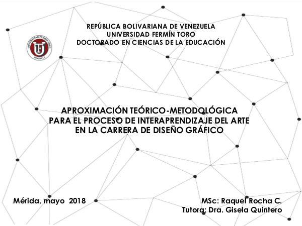DOCTORADO EN CIENCIAS DE LA EDUCACIÓN PRESENTACION TESIS RAQUEL ROCHA 5-5-18