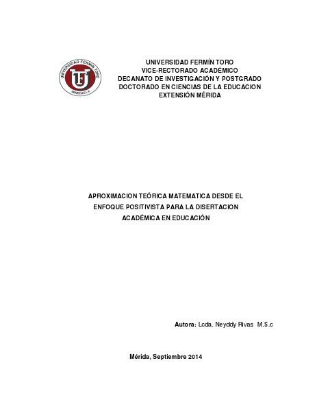 APROXIMACIÓN A UN MODELO TEÓRICO: ENSEÑANZA DE CONTABILIDAD Y TIC EN APROXIMACION TEÓRICA MATEMATICA DESDE EL ENFOQUE P