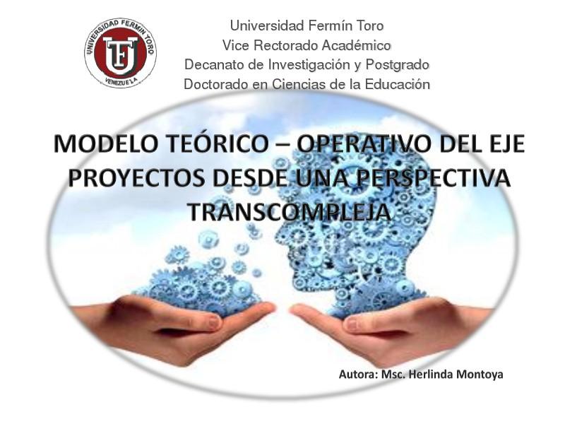 APROXIMACIÓN A UN MODELO TEÓRICO: ENSEÑANZA DE CONTABILIDAD Y TIC EN Modelo teórico-Operativo del eje proyectos una per