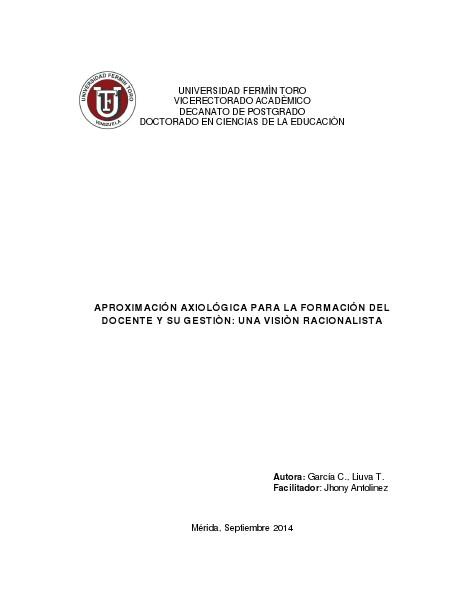APROXIMACIÓN A UN MODELO TEÓRICO: ENSEÑANZA DE CONTABILIDAD Y TIC EN APROXIMACIÓN AXIOLÓGICA PARA LA FORMACIÓN DEL DOCE