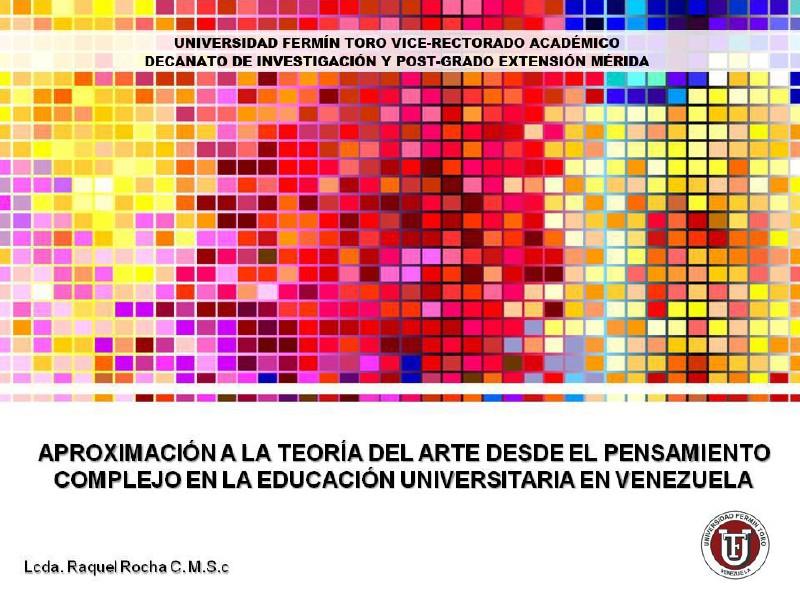 APROXIMACIÓN A LA TEORÍA DEL ARTE DESDE EL PENSAMI