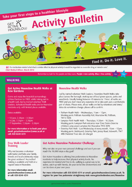 Get Active Hounslow Bulletin May Edition