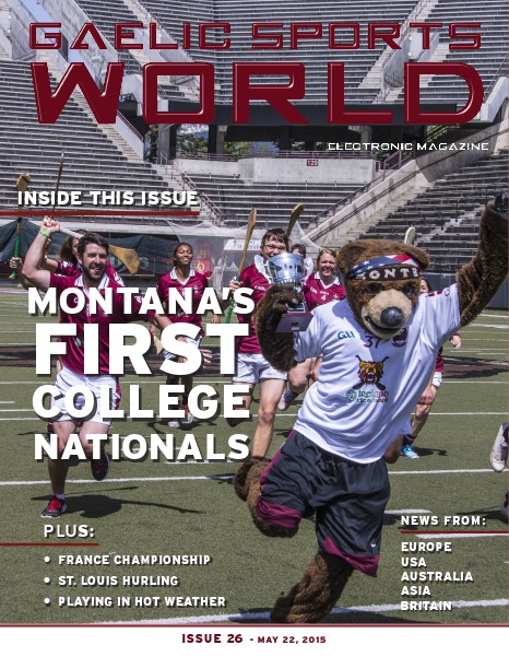 GAELIC SPORTS WORLD Issue 26 – May 22, 2015