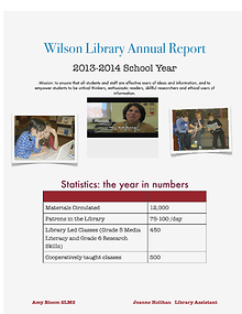 Wilson Library Annual Report  2013-2014