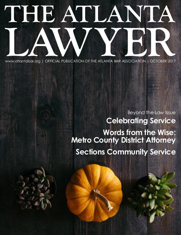 The Atlanta Lawyer October 2017