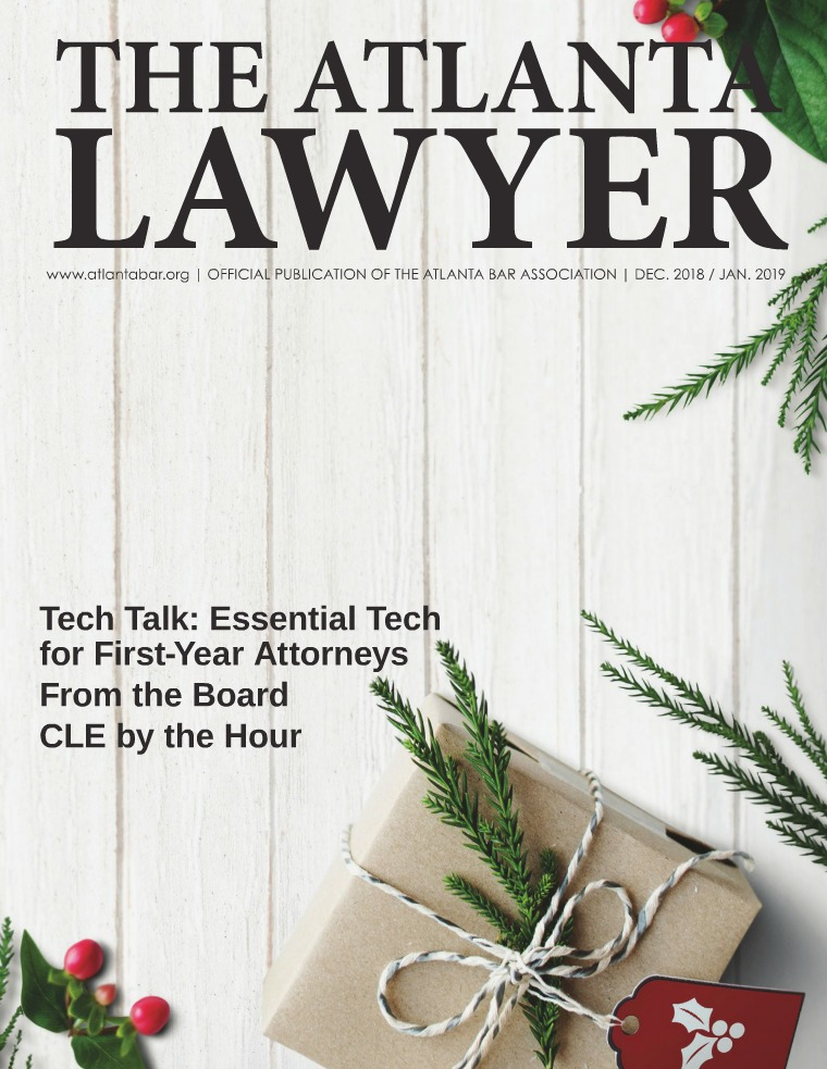 The Atlanta Lawyer December 2018 / January 2019