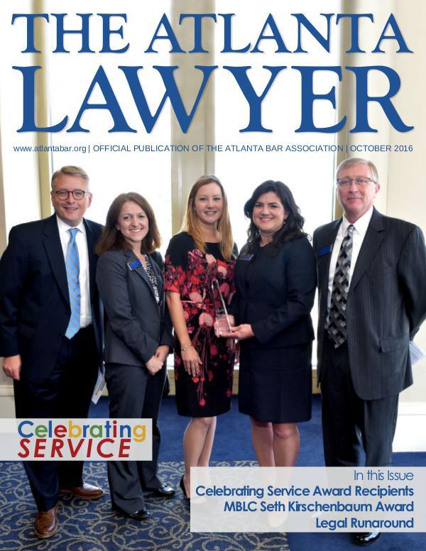 The Atlanta Lawyer October 2016