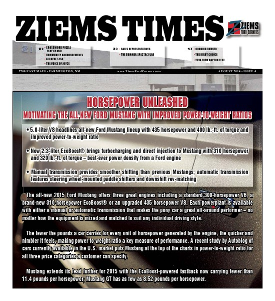 Ziems Times August 2014