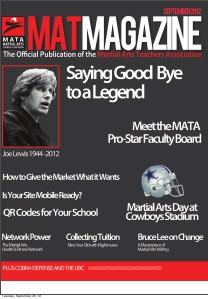 MAT Magazine-The Official Publication of the Martial Arts Teachers' Association MAT Magazine-The Official Publication of the Marti