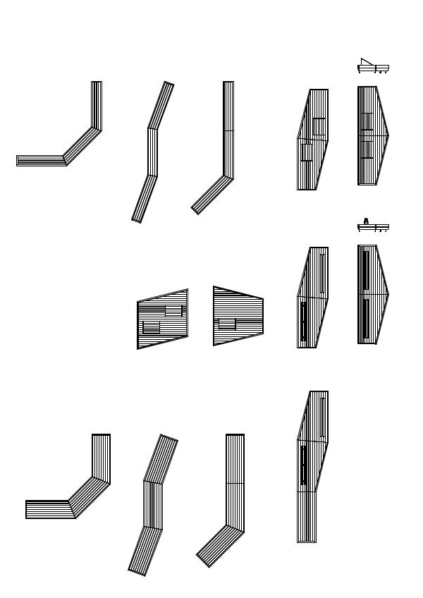 Examples of combinations - Modular bench