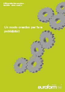 Werbung, Pubblicità, Advertisment Catalogo pubblicità euroform w