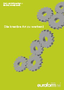 Werbung, Pubblicità, Advertisment Werbung Katalog euroform w