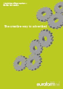 Werbung, Pubblicità, Advertisment Advertisment catalogue euroform w