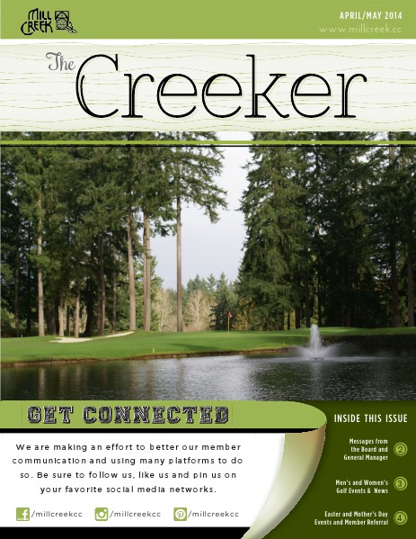 Mill Creek Country Club Member Newsletter April-May 2014