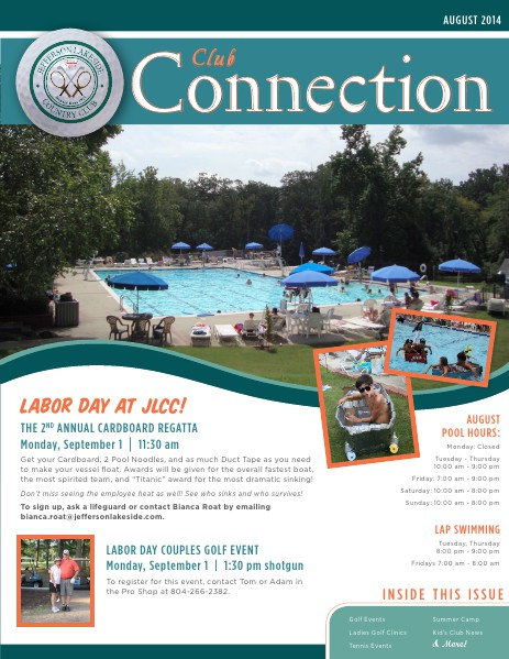 Jefferson Lakeside - Club Connection August 2014