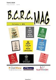 BCRC Mag Volume 1, 2014