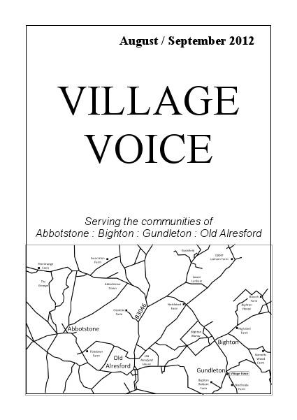Village Voice August/September 2012