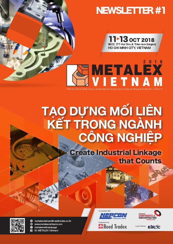 METALEX Vietnam 2018 Newsletter #1 MXV_2018_NEWSLETTER#1 250418L