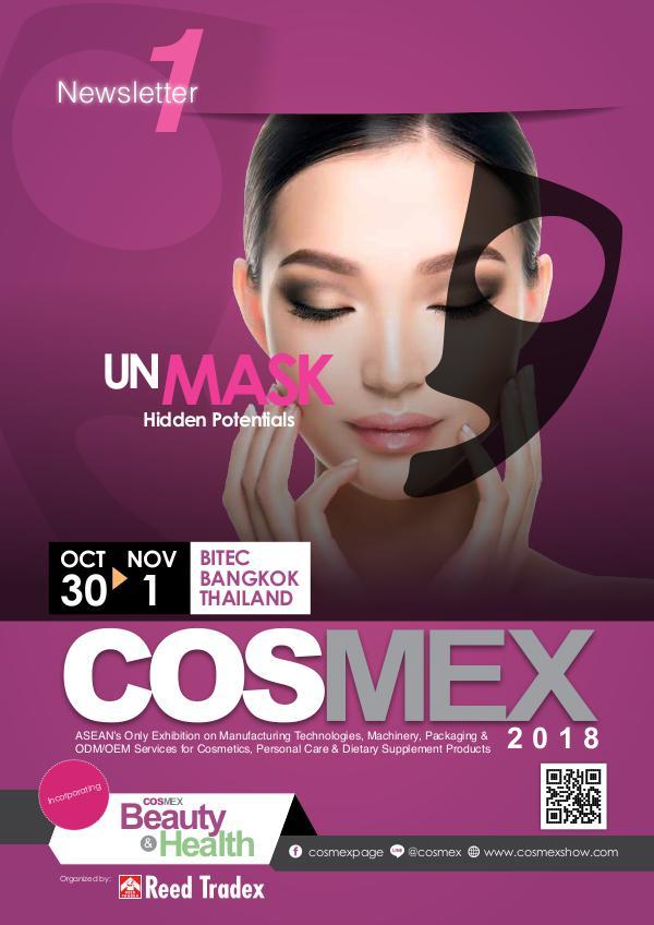 COSMEX 2018 Newsletter #1 COSMEX_2018_NEWSLETTER#1_lowres