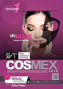 COSMEX 2018 Newsletter #1