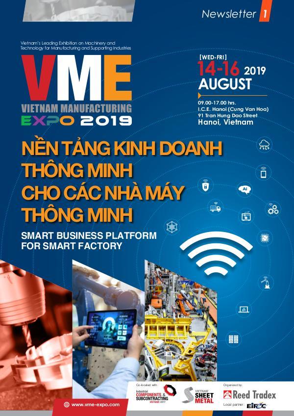 Vietnam Manufacturing Expo 2019 Newsletter #1 VME 2019_Newsletter#1