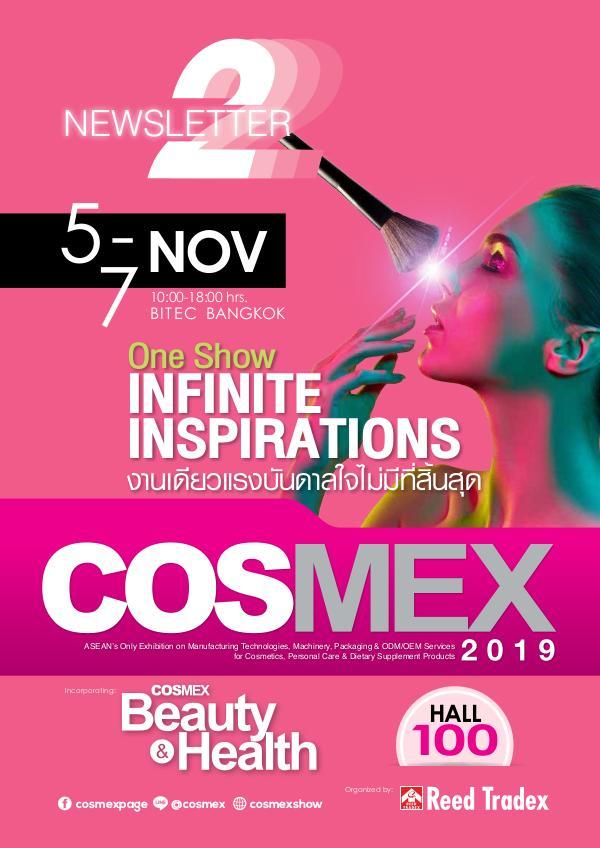 COSMEX 2019 Newsletter#2 Oct 2019