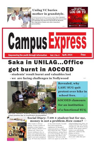 Campus Express Newspaper Apr. 2014