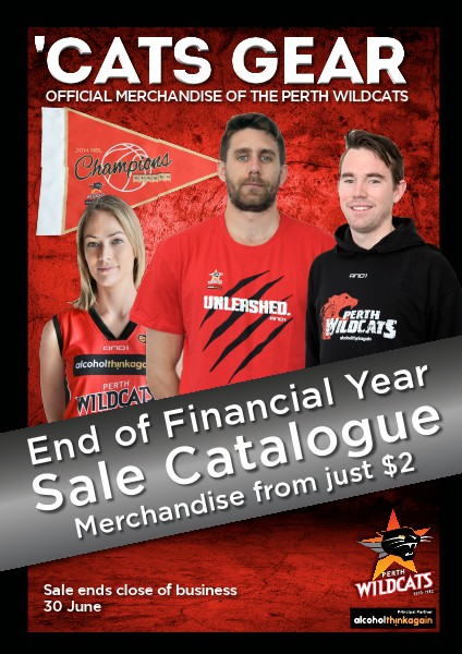 CatsGear - Perth Wildcats Merchandise End of Financial Year Sale Catalogue