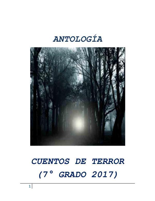 Antología de Cuentos de Terror - 7° Grado CUENTOS 7MO