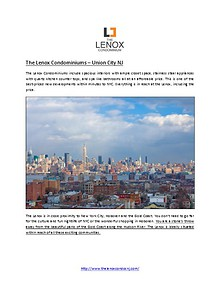 The Lenox Condominiums – Union City NJ