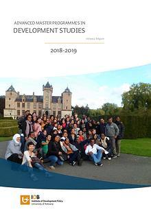 Masters in Development Studies 2018-2019