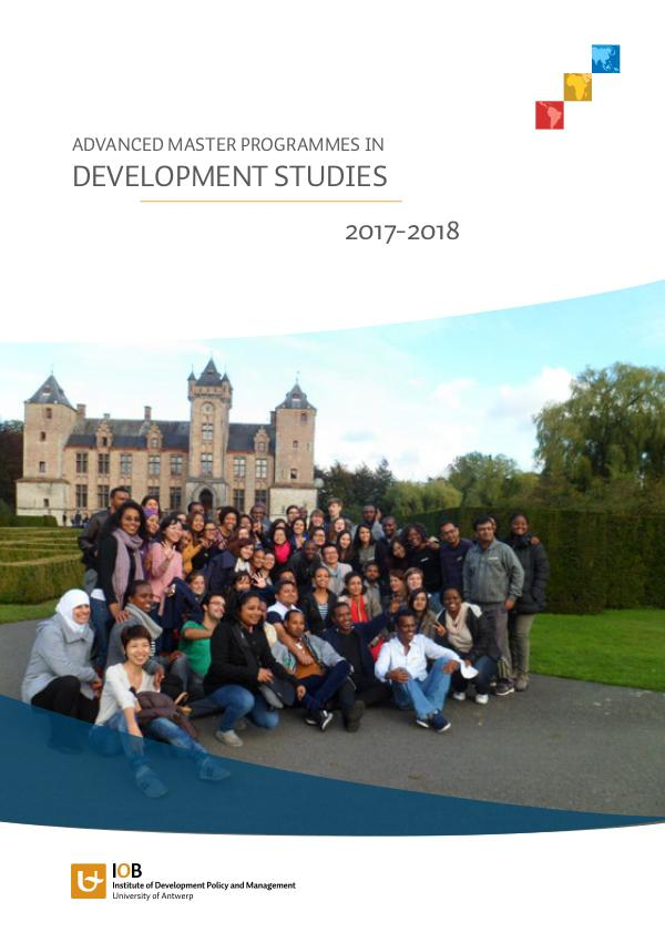 Master programmes in Development studies 2017-2018 Development studies